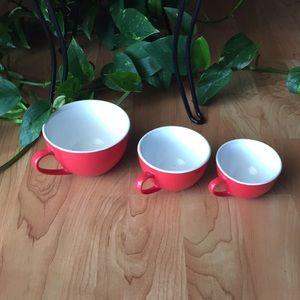 Vintage Red Measuring Cups